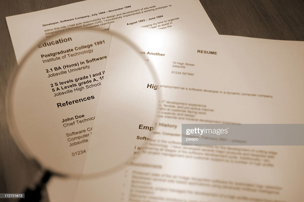 resume series : Stock Photo