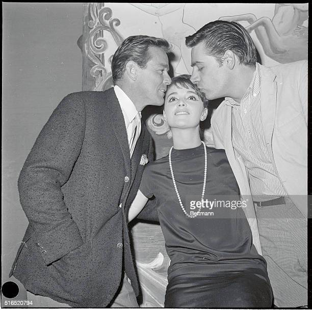 Resumes her star role Producer Gower Champion and leading man Jerry Orbach affectionately welcome singer Anna Maria Alberghetti back to the cast of...