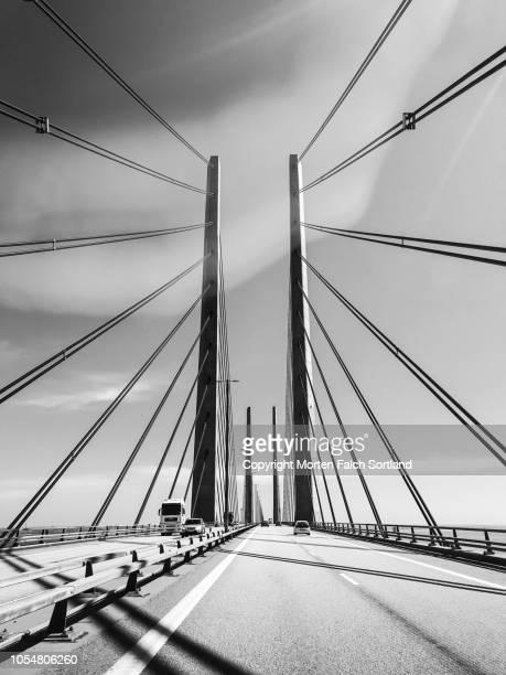 øresund bridge, sweden - oresund region stock pictures, royalty-free photos & images