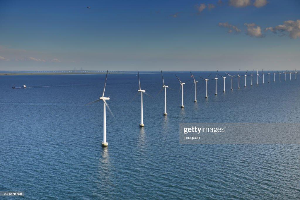 エーレスンド洋上風車 : ストックフォト