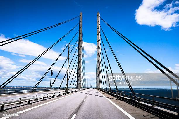 öresundsbron (oresund bridge) - oresund region stock photos and pictures