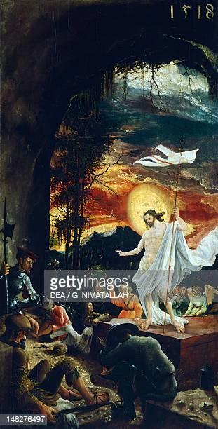 Resurrection by Albrecht Altdorfer altarstep of the altarpiece of Church of San Floriano Vienna Kunsthistorisches Museum