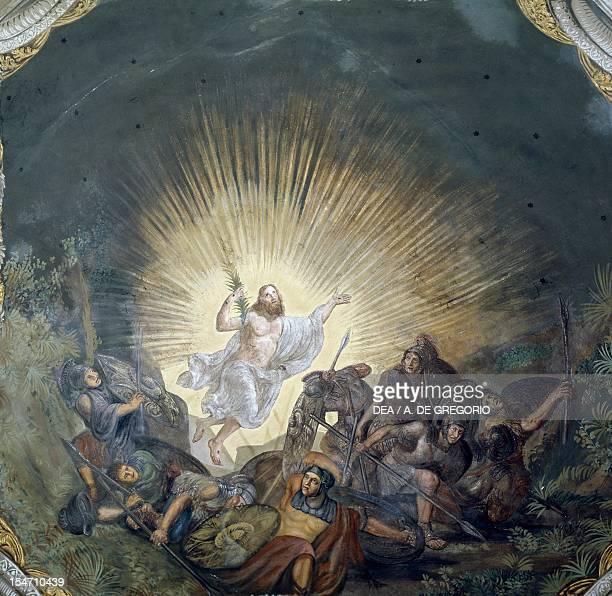 Resurrection by Luigi Ademollo fresco St John The Baptist's Parish Church Pomarance Tuscany Italy 19th century