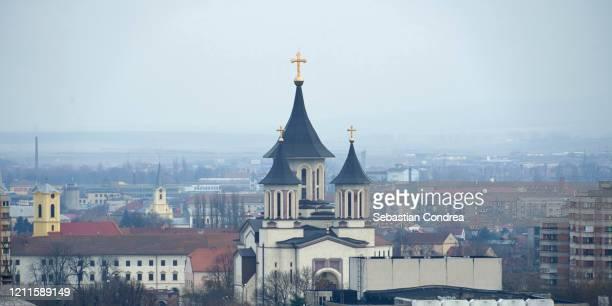 resurrection episcopal cathedral in oradea, romania. - romania stock pictures, royalty-free photos & images
