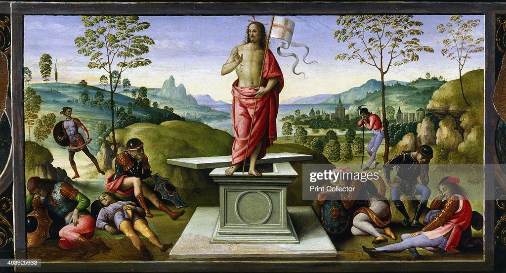 'Resurrection of Christ', 1495. Artist: Perugino : News Photo