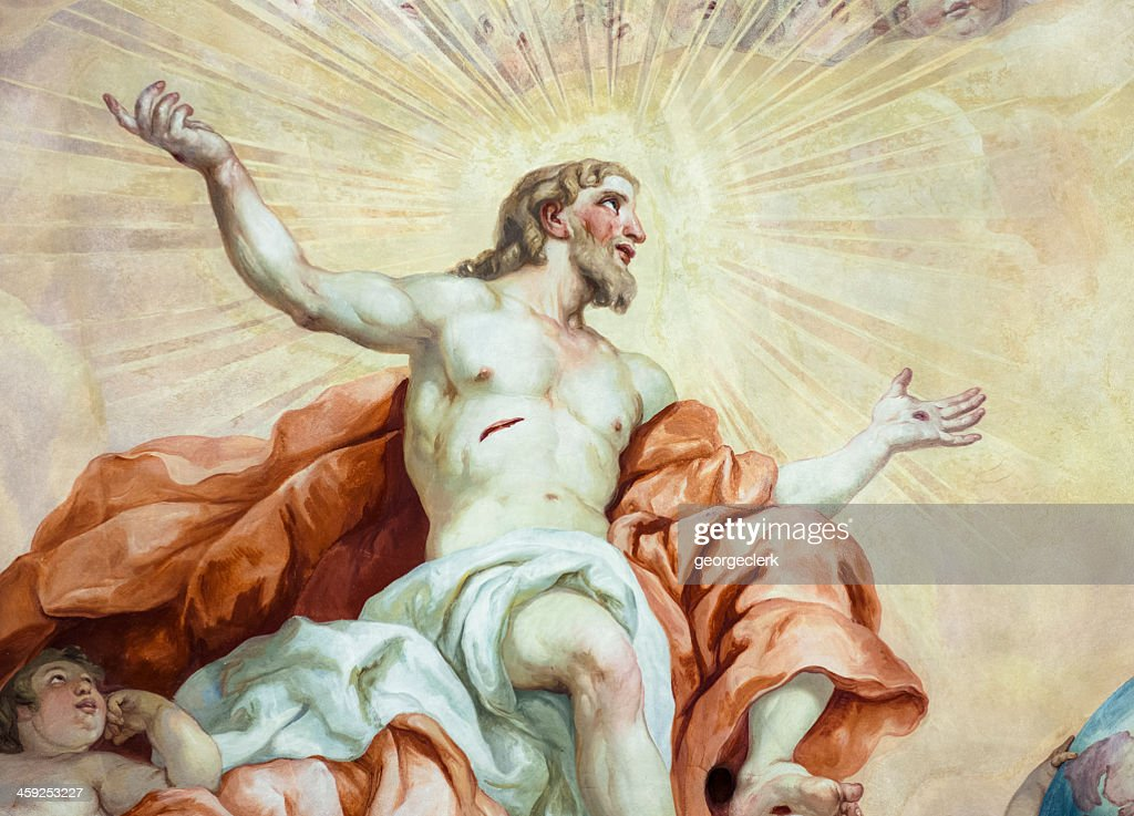 Resurrection of Christ Fresco Painting : Stock Photo
