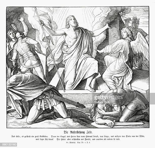 Resurrection of Jesus Gospel of Matthew chapter XXVIII verses 2 4 'And behold there was a great earthquake for the angel of the Lord descended from...