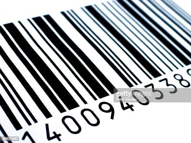 retail barcode close up - bar code stock pictures, royalty-free photos & images