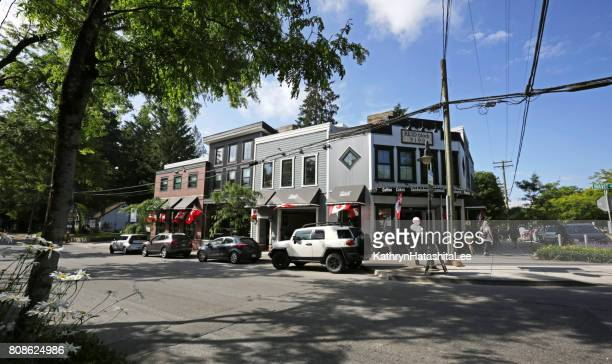Retail Businesses on Mavis Avenue, Fort Langley, British Colulmbia, in Summer