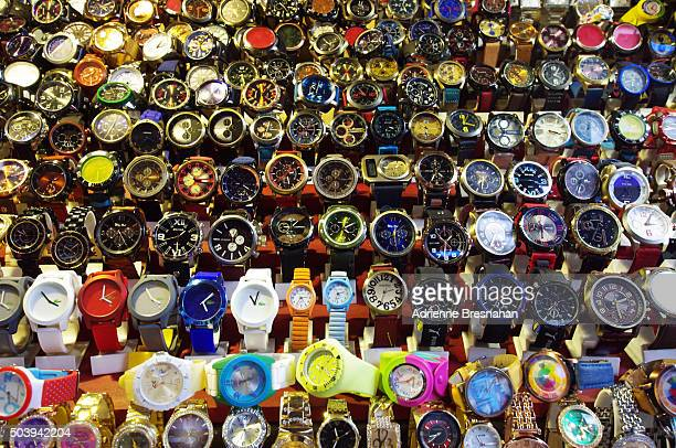 Retail Display of Many Wristwatches