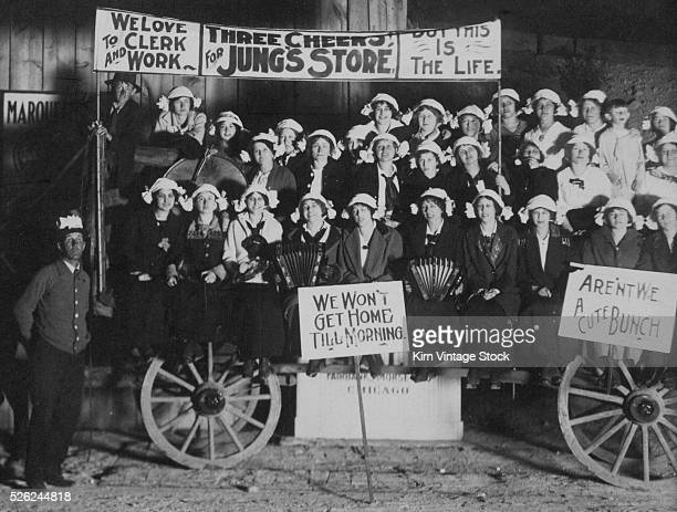 Retail parade float for a retail store ca 1910