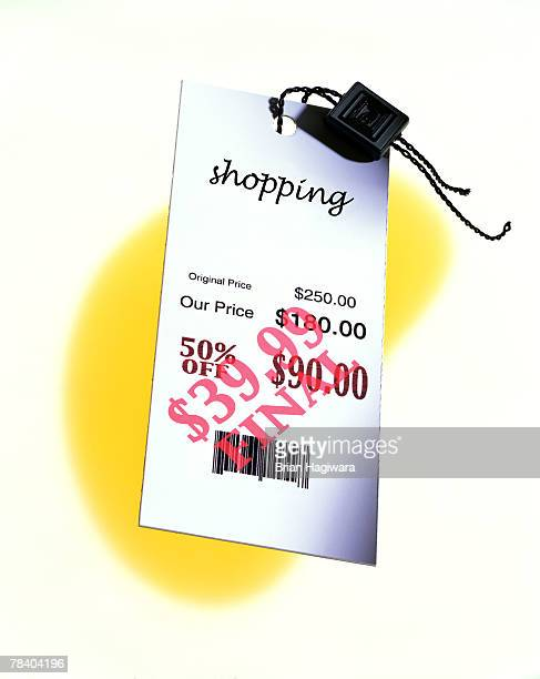 Retail sale price tag