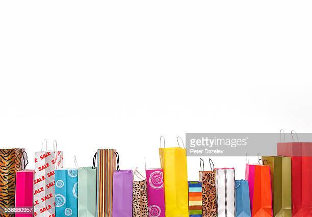 Retail shopping bags with copy space