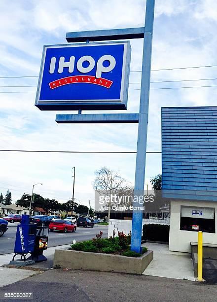 Retail sign Ihop restaurant in Lakewood California