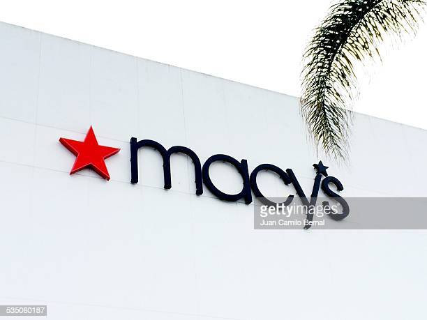 Retail sign Macy's store in Lakewood California