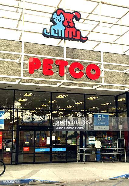 Retail sign Petco store in Lakewood California