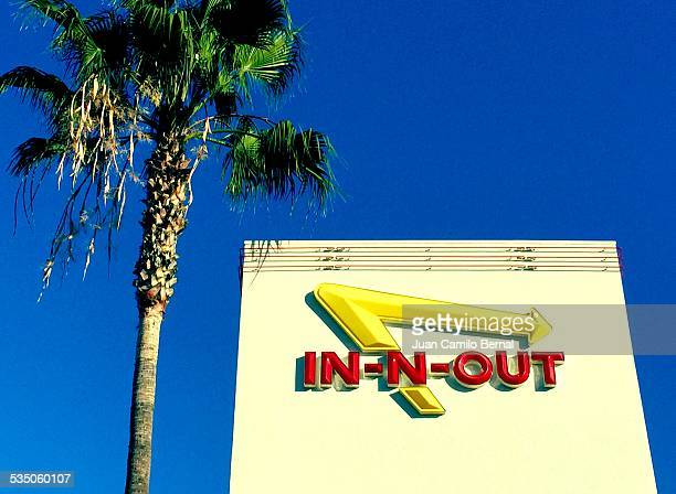 Retail signs InNOut Restaurant in Long Beach California on January 27 2015