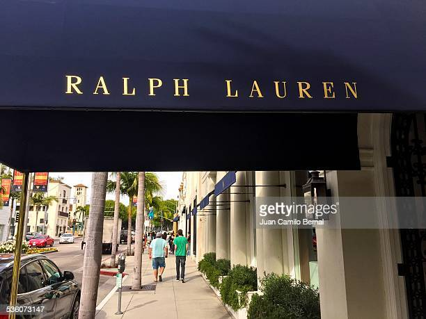 Retail signs Ralph Lauren store in Rodeo Drive Beverly Hills California on January 28 2015