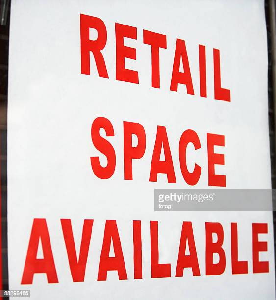 Retail space available sign