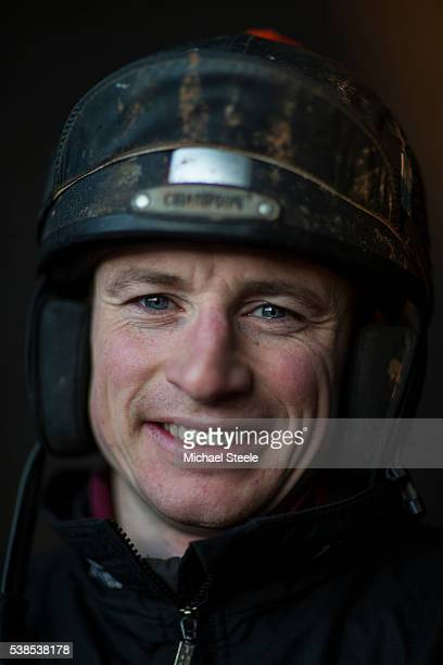 Retained jockey Tom O'Brien at Sandhill Racing Stables on January 20 2016 in Minehead England Sandhill Racing Stables set in 500 hundred acres of...