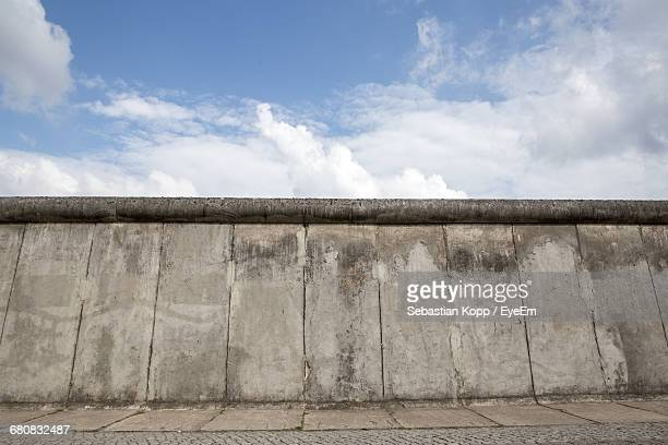 Retaining Wall Against Cloudy Sky