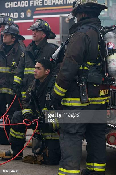 FIRE Retaliation Hit Episode 121 Pictured David Eigenberg as Christopher Herrmann Charlie Barnett as Peter Mills
