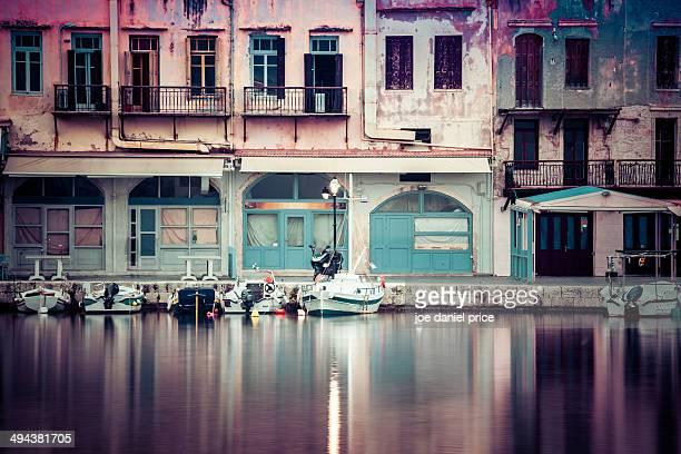 Rethymno Harbour Buildings, Crete, Greece