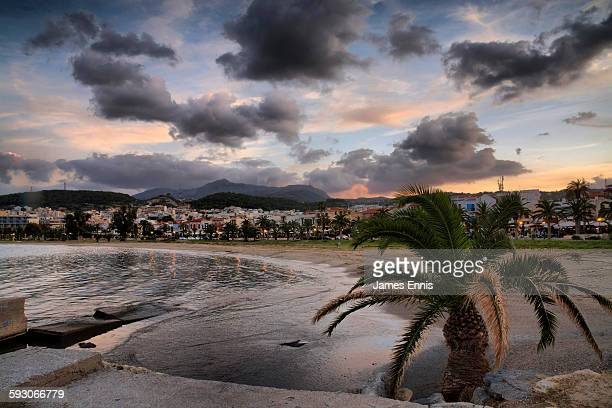 Rethymnon beach and Town, Crete, Greece