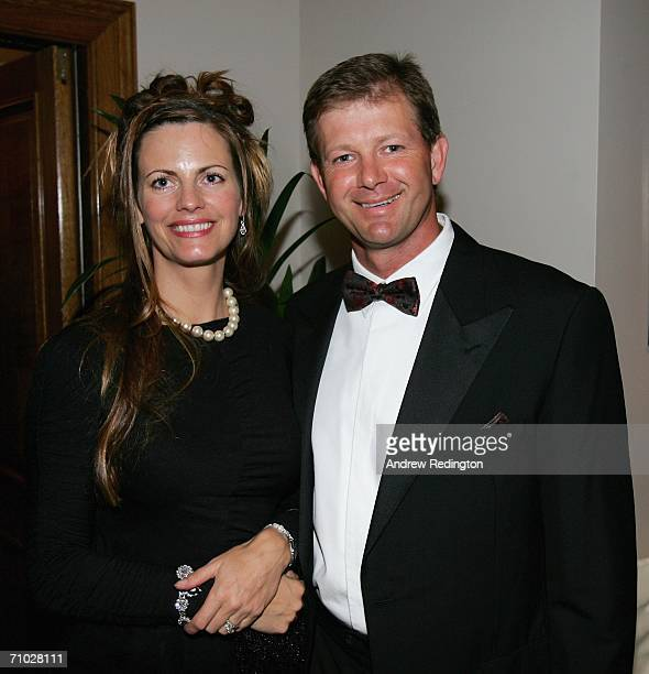 Retief Goosen of South Africa poses with his wife Tracy during The European Tour Dinner at the BMW Championship at The Wentworth Club on May 23 2006...