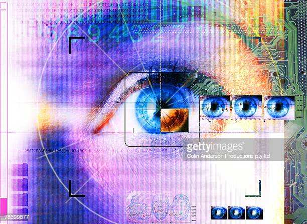 retina - retinal scan stock pictures, royalty-free photos & images