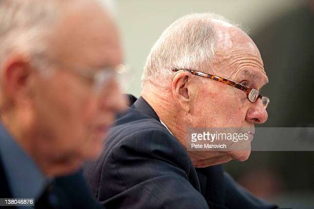 Retired Air Force Lt Gen Brent Scowcroft cochairman of the Blue Ribbon Commission on America's Nuclear Future testifies before the House Energy and...