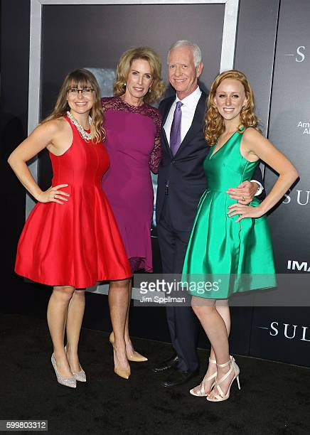 """Retired airline captain Chesley """"Sully"""" Sullenberger and family attend the """"Sully"""" New York premiere at Alice Tully Hall, Lincoln Center on September..."""