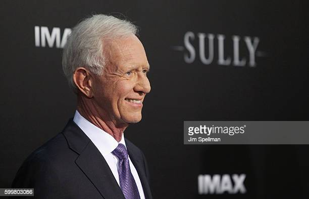 """Retired airline captain Chesley """"Sully"""" Sullenberger attends the """"Sully"""" New York premiere at Alice Tully Hall, Lincoln Center on September 6, 2016..."""