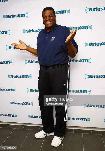 Retired American professional basketball player Bernard King visits the SiriusXM Studios on October 28 2014 in New York City