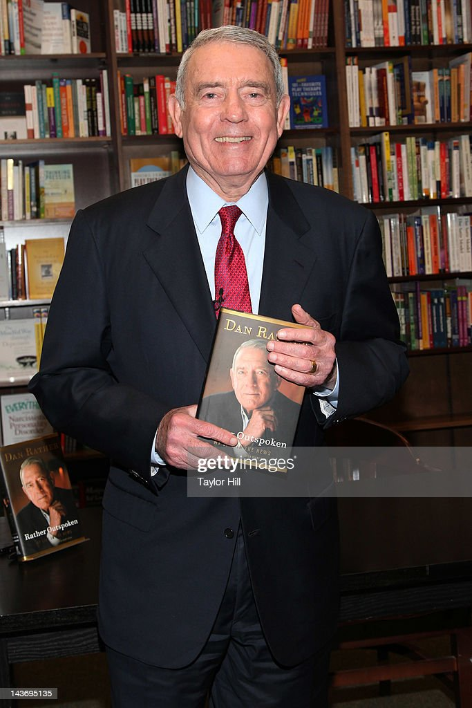 Retired anchor Dan Rather promotes 'Rather Outspoken: My Life In The News' at Barnes & Noble 82nd Street on May 2, 2012 in New York City.