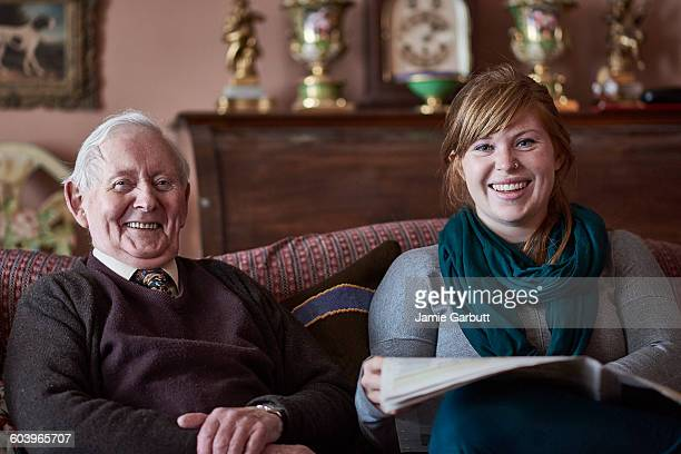 A retired antique dealer and his granddaughter