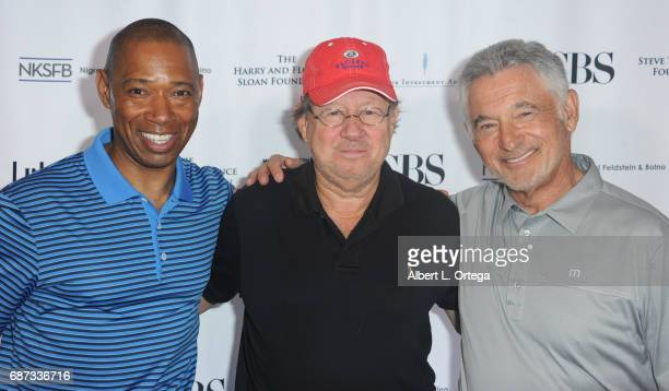 Retired Army General Dana J.H. Pittard, Fred Rosen and founder Ron Silverman at the 5th Annual Matthew Silverman Memorial Golf Classic held at El...