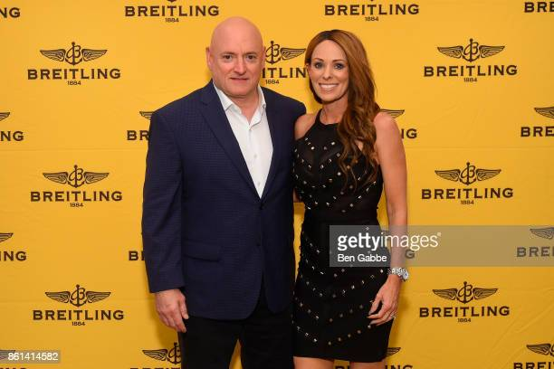 Retired Astronaut Scott Kelly and NASA Public Affairs Officer Amiko Kauderer attend Breitling Celebrates Former NASA Astronaut and Current Breitling...