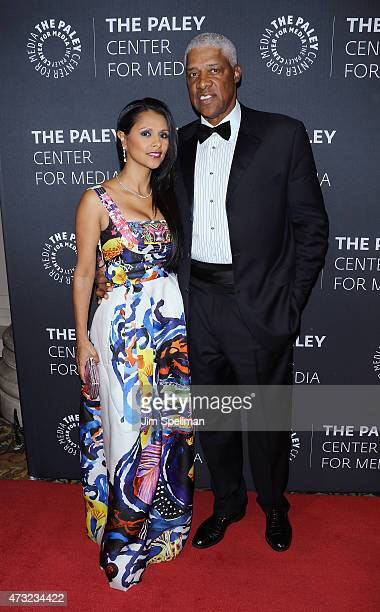 Retired basketball player Julius Erving and wife Dorys Madden attend the The Paley Center For Media hosts a tribute to AfricanAmerican achievements...