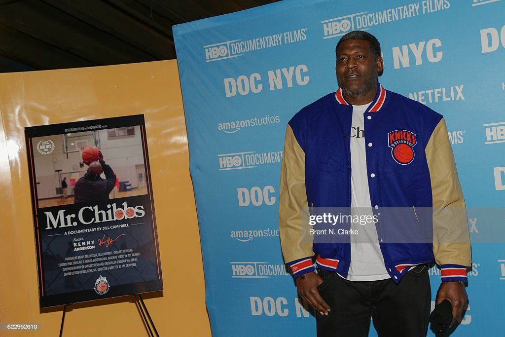 Retired basketball player Larry Johnson attends the screening of 'Mr. Chibbs' during DOC NYC held at the SVA Theater on November 12, 2016 in New York City.