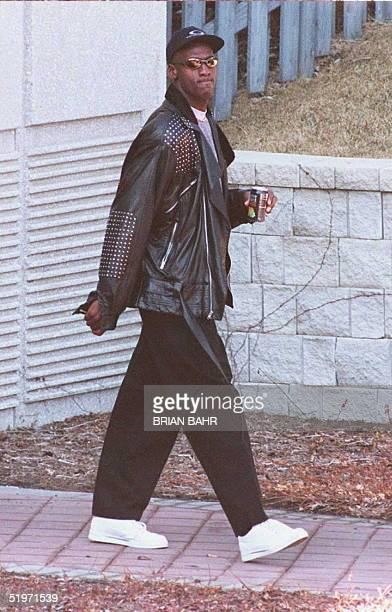 Retired basketball star Michael Jordan leaves Chicago Bulls practice via the back door of the Berto Center in DeerfieldIllinois13 March Jordan has...