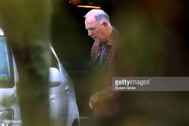 Retired Boston Police detective Robert Tully leaves his home in the morning of Nov. 12, 2020 in Hanover, MA.