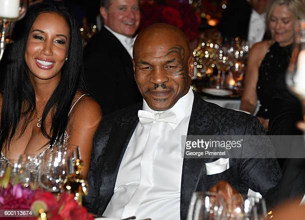 Retired boxing champion Mike Tyson and and wife Kiki Tyson attend the 2016 Toronto International Film Festival 'AMBI Gala' at Ritz Carlton on...