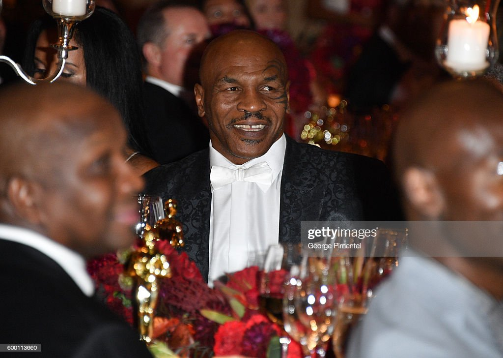 Retired boxing champion Mike Tyson attends the 2016 Toronto International Film Festival 'AMBI Gala' at Ritz Carlton on September 7, 2016 in Toronto, Canada.