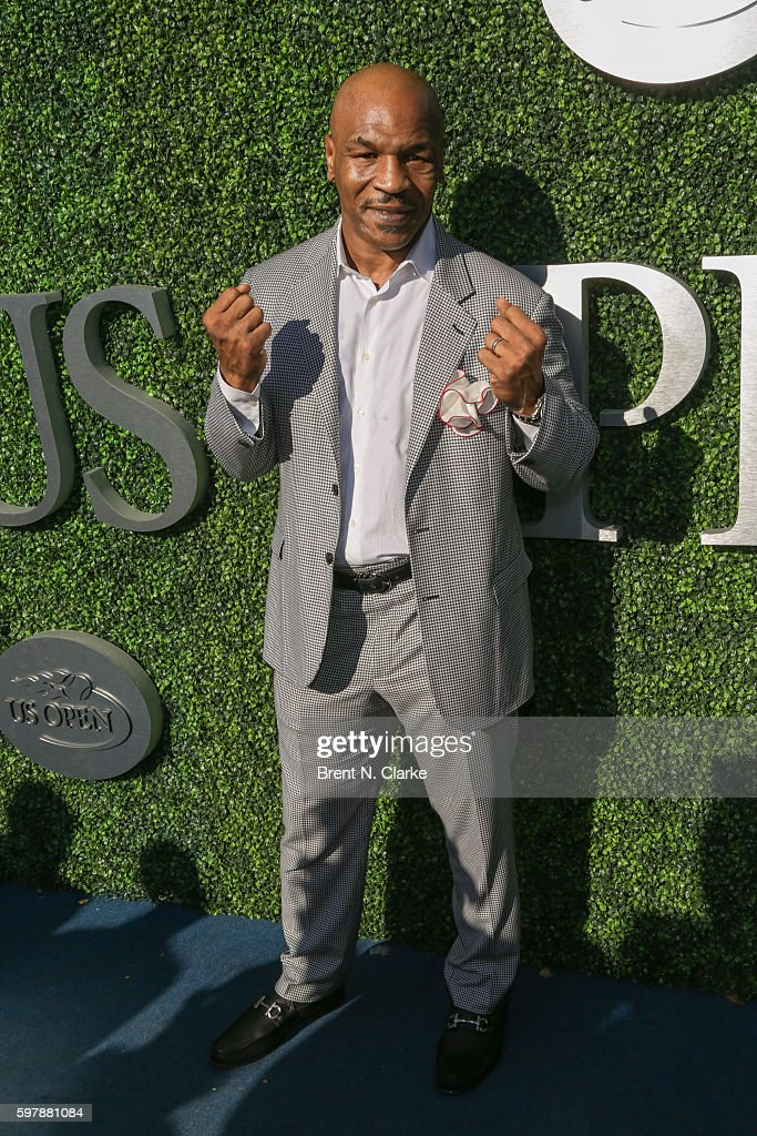 Retired boxing champion Mike Tyson attends the 2016 US Open Opening Night held at the USTA Billie Jean King National Tennis Center on August 29, 2016 in New York City.