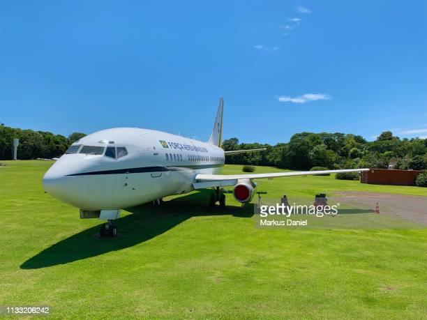 "retired brazilian air force boeing 737 in foz do iguacu - ""markus daniel"" stock-fotos und bilder"