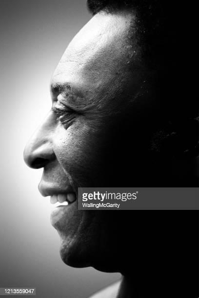 Retired Brazilian soccer legend Pele poses for a portrait in 2010