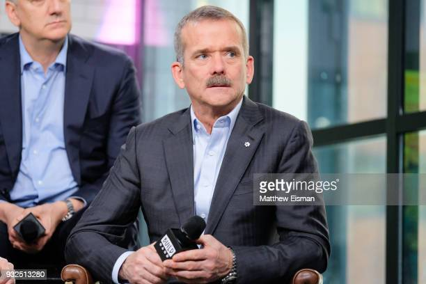 Retired Canadian astronaut Chris Hadfield discusses the TV series One Strange Rock at Build Studio on March 15 2018 in New York City