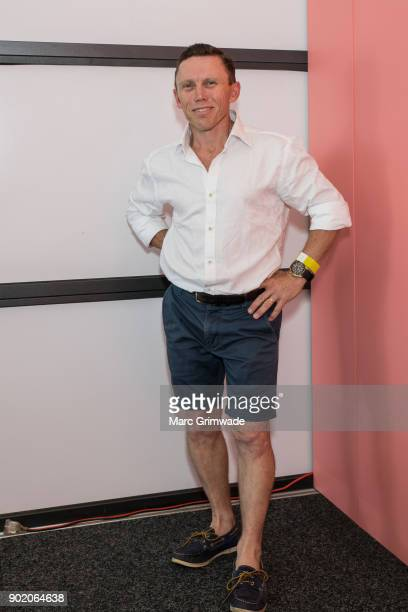 Retired champion jockey Chris Munce attends Magic Millions Polo on January 7 2018 in Gold Coast Australia