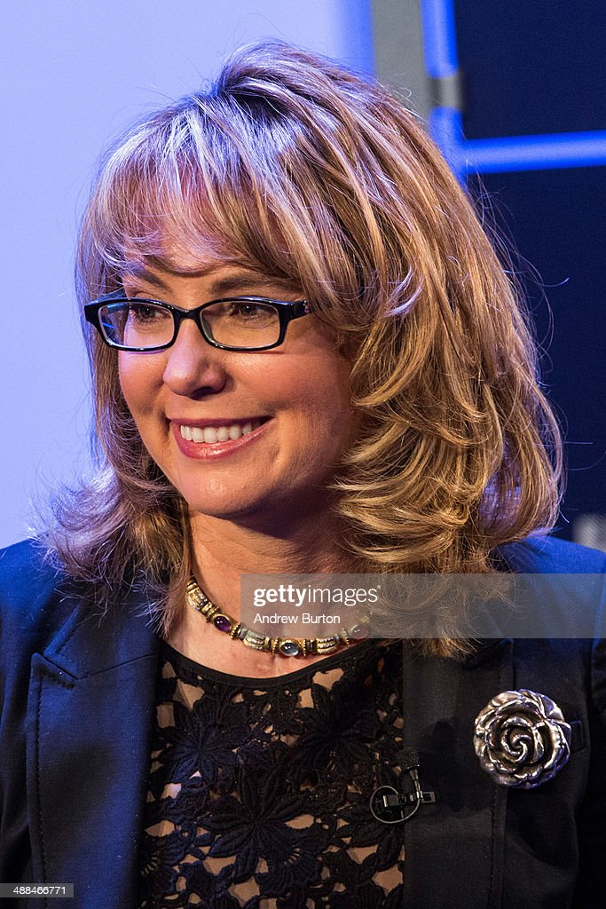Retired Congresswoman and co-founder of Americans for Responsible Solutions, Gabby Giffords, speaks at New York Ideas, a conference that brings together leaders from a variety of industries on May 6, 2014 in New York City. New York Ideas is hosted by The Atlantic, The Aspen Institute and New-York Historical Society.